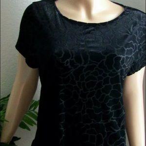 Adrianna Papell Women's Velvet Peplum Top Size XL